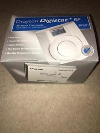 DRAYTON DIGISTAT +RF RF601 WIRELESS ROOM THERMOSTAT & RECEIVER. *NEW*