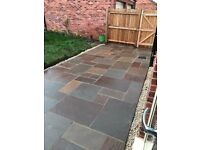 Stunning mixed Indian sandstone paving (approx 10m2)