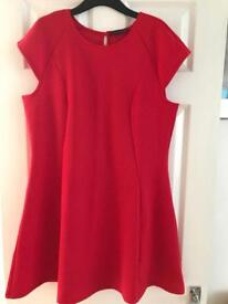 Red dress primark size 18