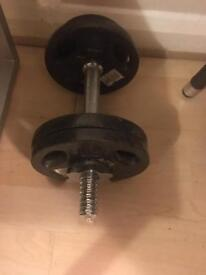 Dumbell and weighs