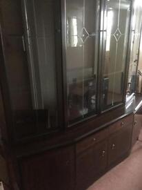 Mohagany display cabinet OPEN TO OFFERS
