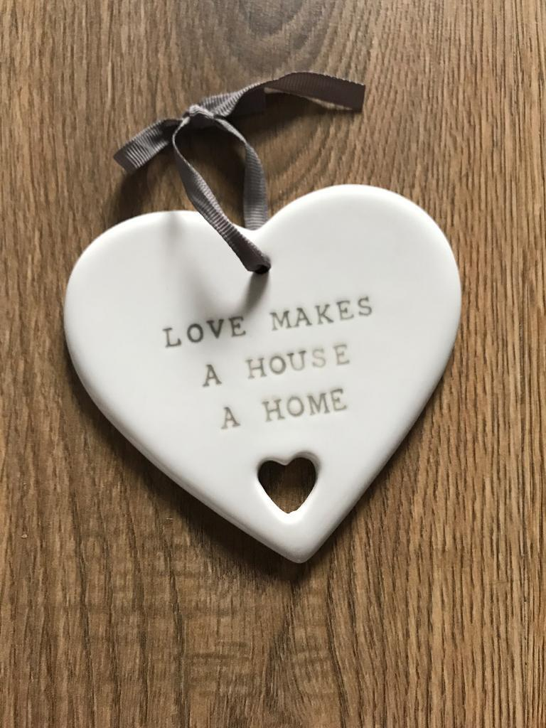 """Next """" love makes house a home"""" decoration"""