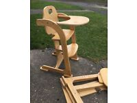 2 x Wooden East Coast High Chairs. Good Condition.