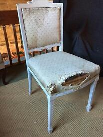 Shabby Chic chair in need of repair! HG3