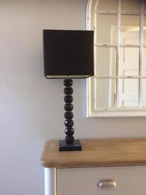Large Black Oynx Table Lamp