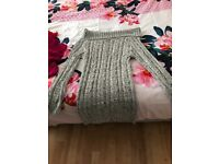 Grey cable knit jumper size S/M