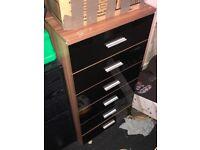 MUST GO! Stylish Black Gloss Walnut Furniture Set