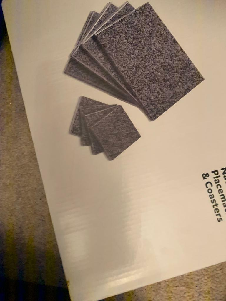 Natural Granite Placemat And Coasters In Wallington