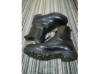 Size 11 black leather military boots