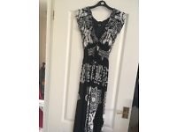 Black and white ankle length summer dress