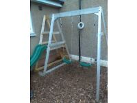 Plum - Outdoor play slide and double swings