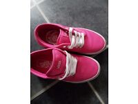 Pink vans size 4 great condition