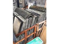 Concrete flat roof tiles