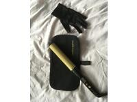 Andrew Barton curling wand with heat resistant mat and glove
