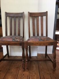 Oak Dining Room Chair, Set of 2 for £20