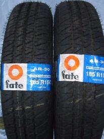 2 x Fate AR-30 tyres. 185R15C