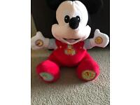 Disney Talking & Singing Interactive 123 ABC Mickey Mouse Soft Toy baby
