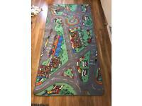 Children's bedroom rug mat play car road