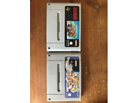 Super Nintendo (SNES) Cartridge - Super Mario Cart & Street Fighter 2