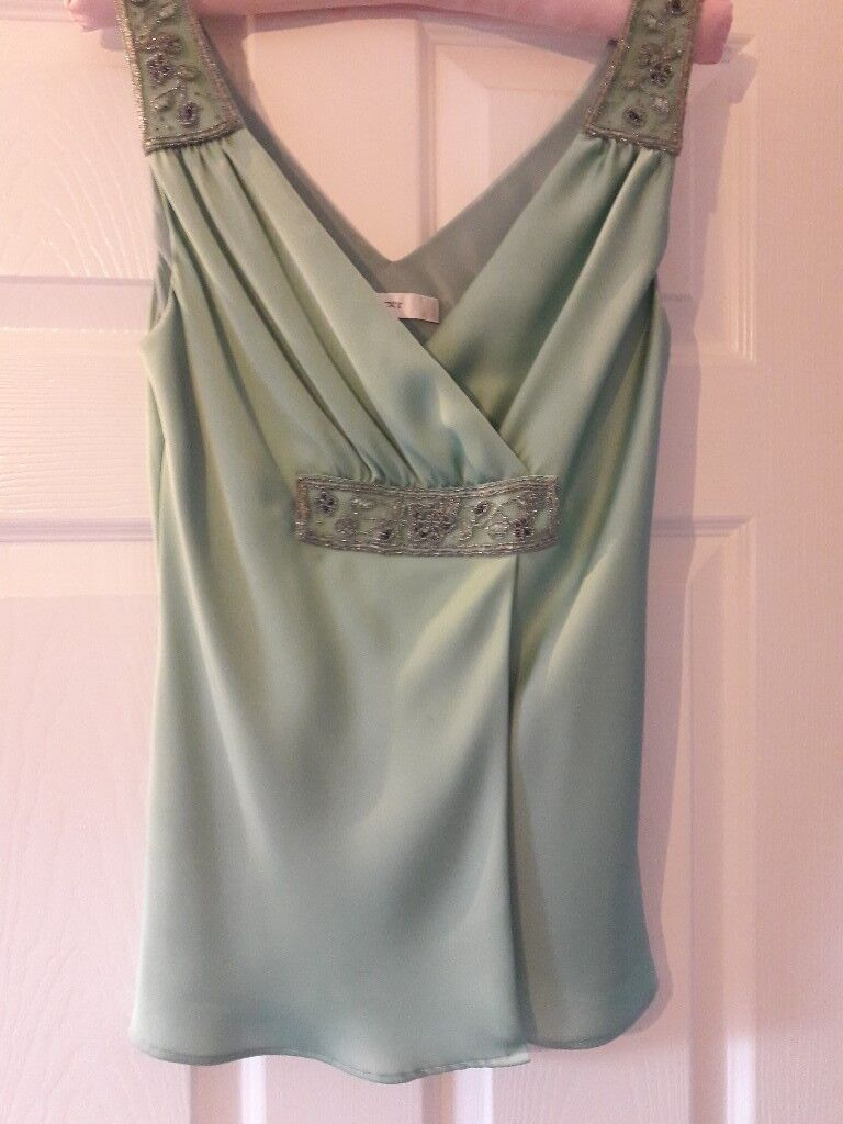 Next ladies top in light green colour Size : 12
