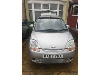 Selling Chevrolet Matiz, silver 2007 just under 62,000 miles, MOT until 12 Feb 2019