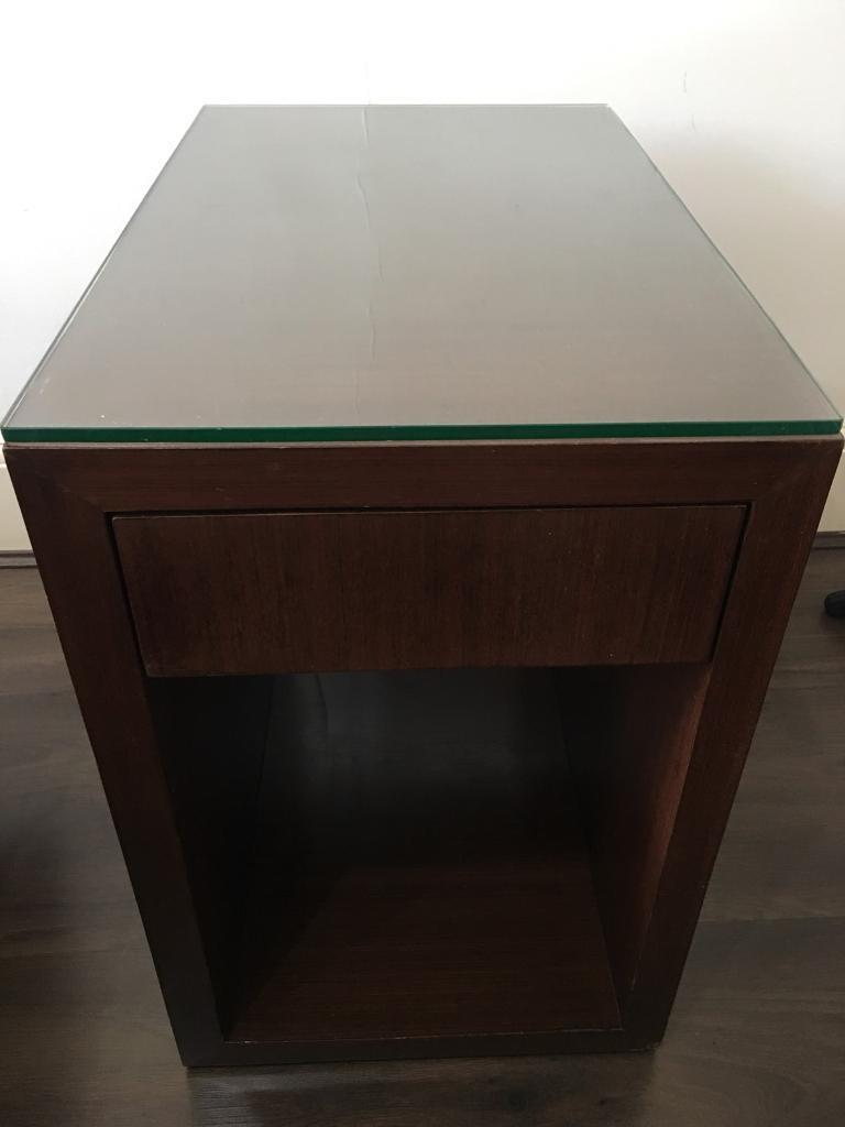 Lovely Rosewood Side Table Storage Unit