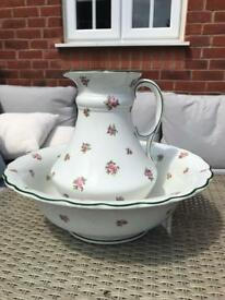 Victorian large jug and bowl