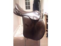 Ideal Event Saddle, brown leather.
