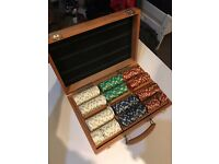 Poker Set 300pc Wooden Case