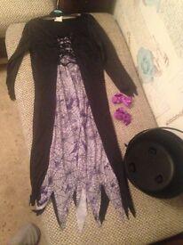 Girls Halloween dress/2 bow hair clips/colldren