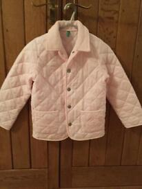 Benetton quilted coat aged 6-7