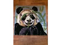 Rare panda hand made rug small size for sale