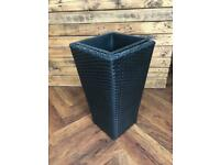 Black wicker vase flower stand holder / light holder