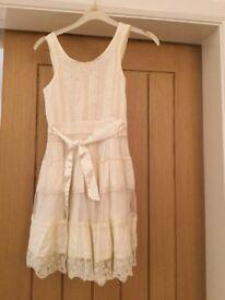 Cream Autograph Dress. Age 9yrs old