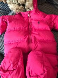 Baby girl Ralph Lauren snow suit 9 months