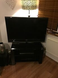 Sony Bravia 40inch KDL-40V4000 and sleek glass black stand