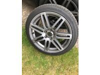 Genuine Le Mans Audi Alloy Wheel 18 Inch A3 S Line black edition Quattro