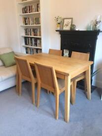 Habitat Ruskin Extending Oak Dining Table and 4 Chairs