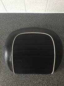 VESPA GTS 125/250/300 BACK REST TOP BOX BACK BOX CUSHION IMMACULATE LOOKS BRAND NEW GENUINE LEATHER