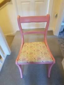 Vintage pink chair