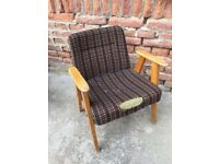 Original 60's Vintage Mid-Century Polish Style Easy Chairs Quirky Listening Reading