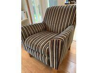 Next Striped Fabric Chair