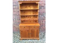 Solid pine Welsh dresser with spice drawers. E