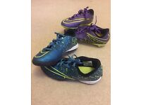 Two Pairs Nike Football Boots - Size 4 - Studs and astros