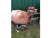 Cement mixer with stand. Petrol