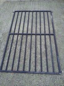 Black steel metal security grid