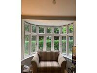 Wooden bay window