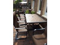 Garden table 5 chairs