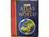 PHILIPS ATLAS OF THE WORLD - EXCELLENT CONDITION
