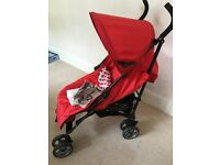 Babyway Caspian Stroller with Footmuff and Raincover (Red)